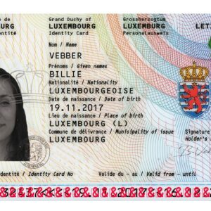 Luxembourg National Identity Card for Sale