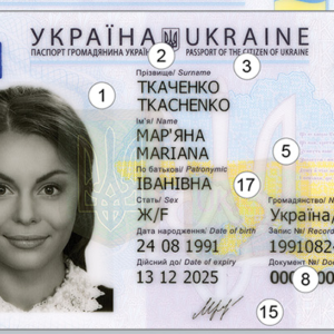 Ukraine National Identity Card for Sale