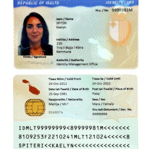 Maltese National Identity Card for Sale Online
