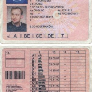 Buy Polish Driving License Online